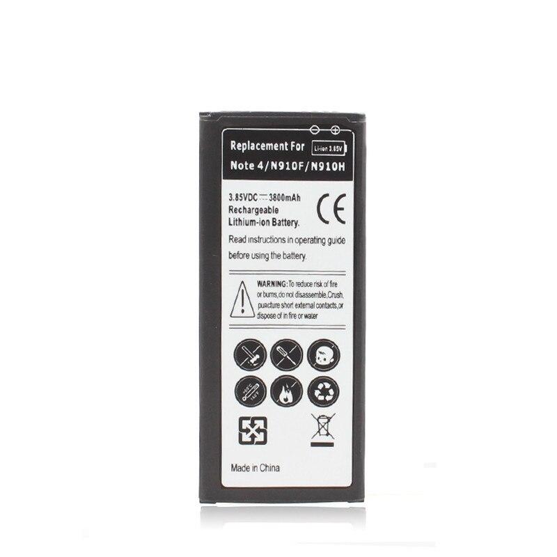 3800 mAh Rechargeable Au Lithium-ion Batterie Pour Samsung Galaxy Note 4 N9100 Celular Moblie Téléphone Batterie Bateria Haute Top vente