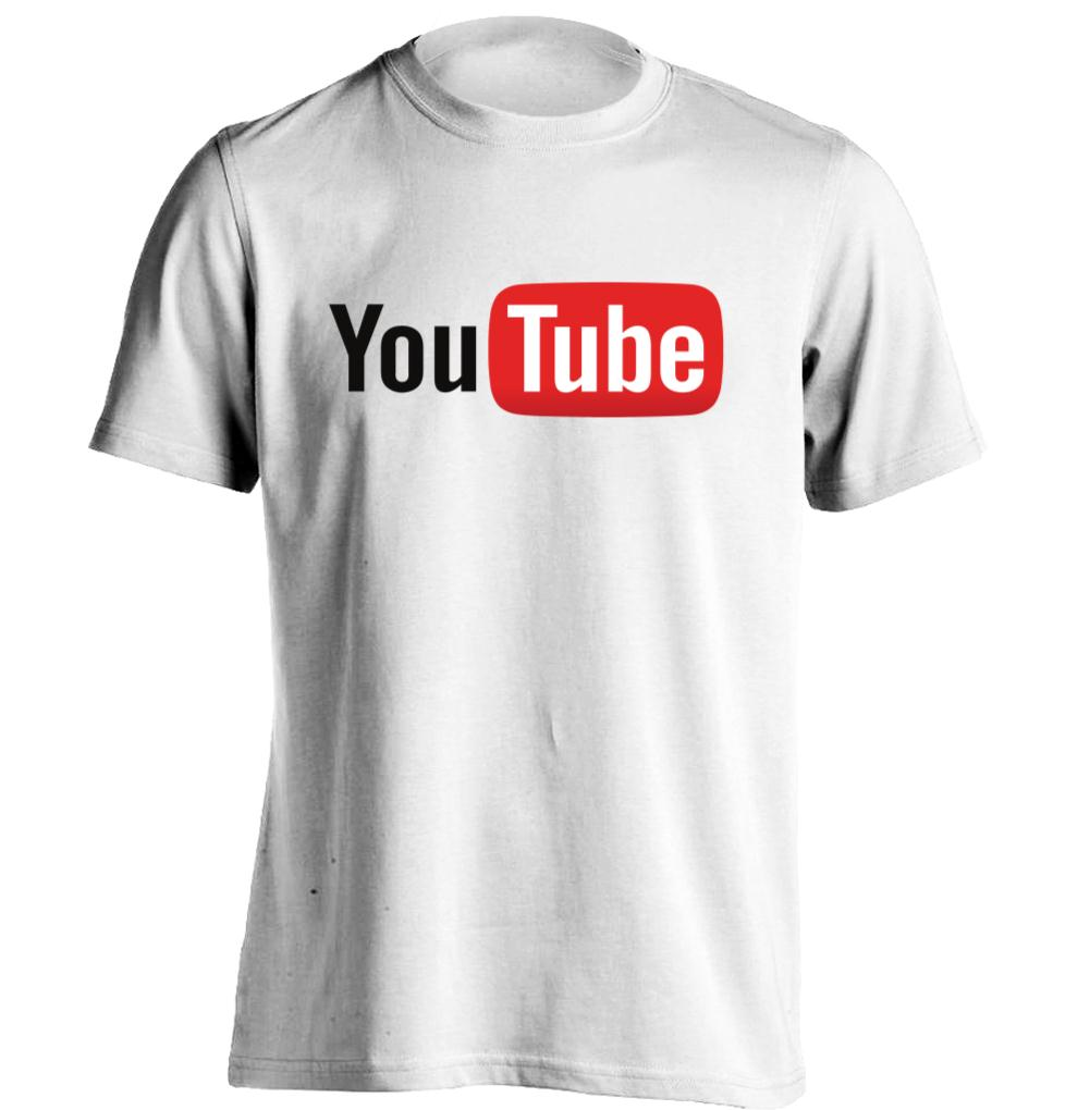 Youtube logo mens personalized cool t shirt custom tee in for Shirts with custom logo