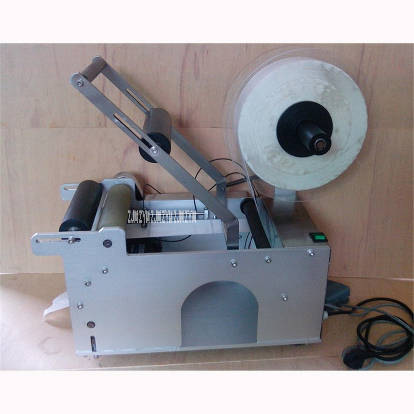 110V/220V  Round Bottle Semiautomatic Labeling Machine, Labeling Machine for Round Bottle Label width  8-160mm 25-50 pieces/mim платье mim label платье