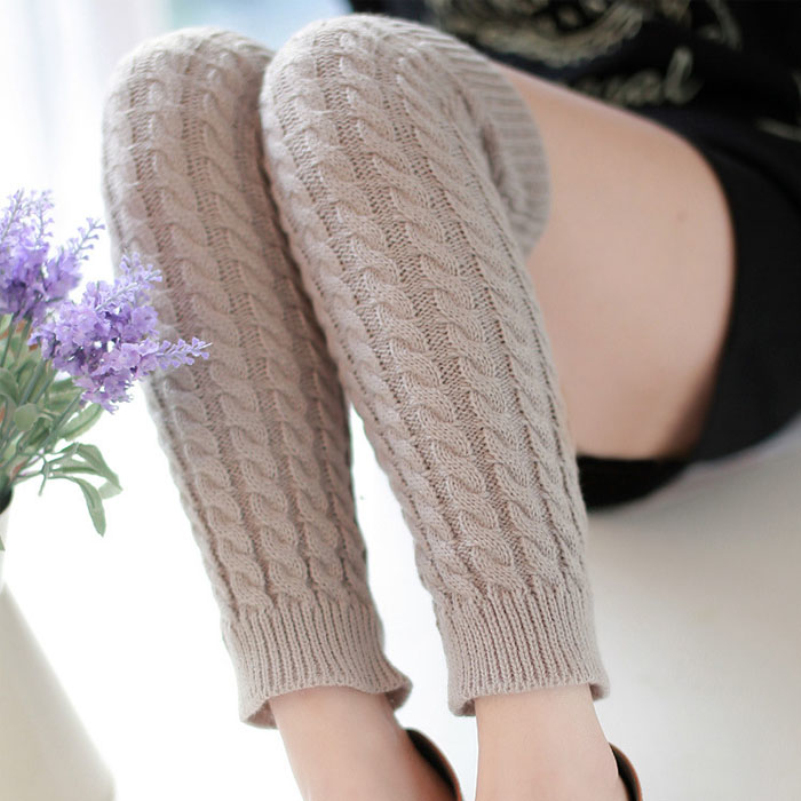 Black Friday VOT7 vestitiy Fashion Women Winter Warm Leg Warmers Knitted Crochet Long Socks,Aug 17