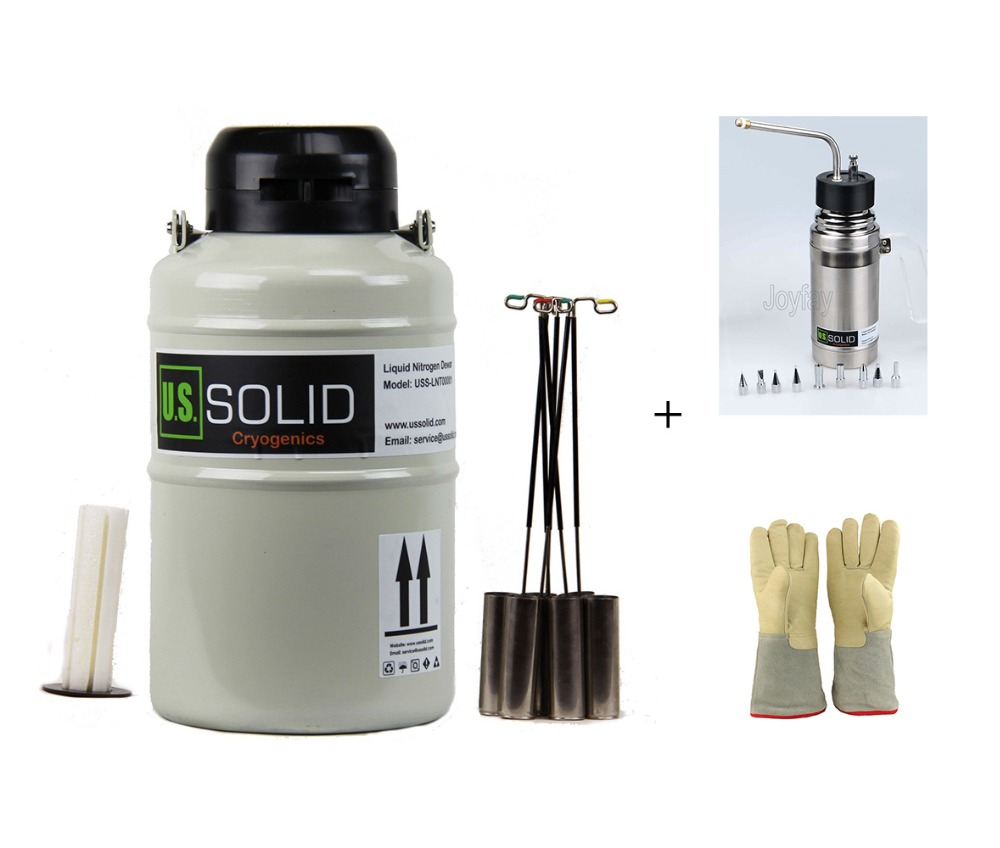цены на U.S. Solid 3 L Liquid Nitrogen Tank Liquid Nitrogen Container + Sprayer + 35 cm 13.8