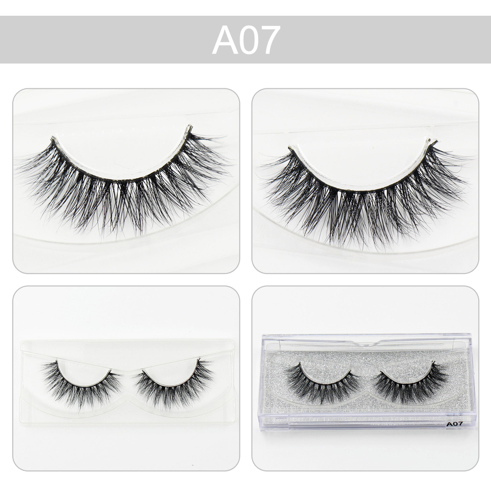 AMAOLASH 3D Mink Eyelashs Real Mink Luxury Handmade Crossing Lashes Natural Strip largo Thick Lash Fake Pestañas A07