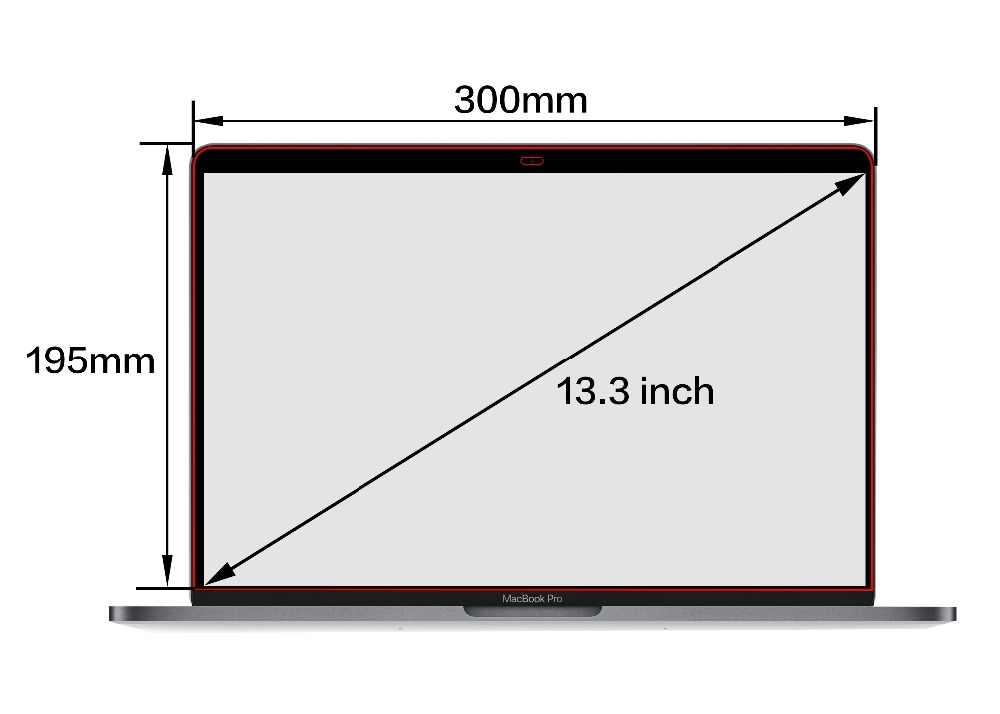 Pieno Filtro Privacy schermo Schermi pellicola Protettiva per MacBook pro 13 pollici 2018 nuovo Modello A1708 A1706 A1989 con Touch bar.