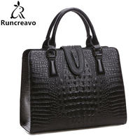 Crocodile Pattern Genuine Leather Bag Women Shoulder Bags Luxury Handbags Women Bags Designer Famous Brands High Quality