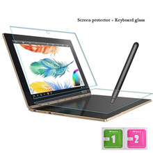 For Lenovo Yoga Book 10.1 Inch Tempered Glass + Keyboard Glass Protective Full screen Transparent 2.5D Edge 9H Hardness