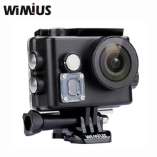 Wimius Q6 4K WIFI Action Camera Mini Video Sports Helmet Cam Car DVR DV Full HD 1080P 2.0″ Go Waterproof 60M Pro +Two Batteries