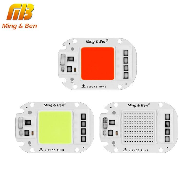 цена на [MingBen]LED COB Lamp Chip 110V 220V 20W 30W 50W Smart IC DIY For LED Floodlight Decoration Red Green Blue Yellow Warm Day White