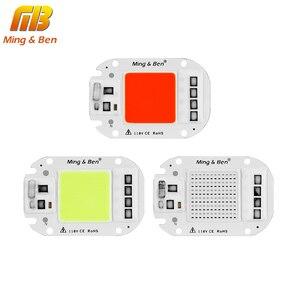 LED COB خرزة مصباح 110V 220V 20W 30W 50W الذكية IC LED رقاقة DIY ل LED الكاشف الديكور الأحمر الأخضر الأزرق الأصفر يوم دافئ الأبيض