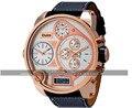 2016 Oulm 9316 BUnisex Doble movimiento Deportivo Reloj Mecánico con Display GMT Dual Time, termómetro y Brújula