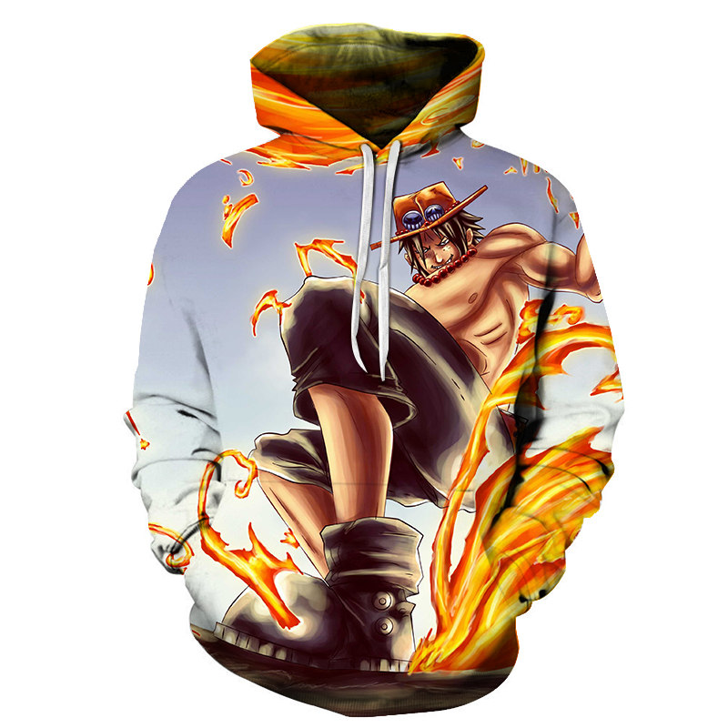 Cloudstyle Anime 3D Hoodies Men Clothes 2019 Sweatshirts One Piece Luffy Print Pullovers Harajuku Tops Streetwear Asian size S-6