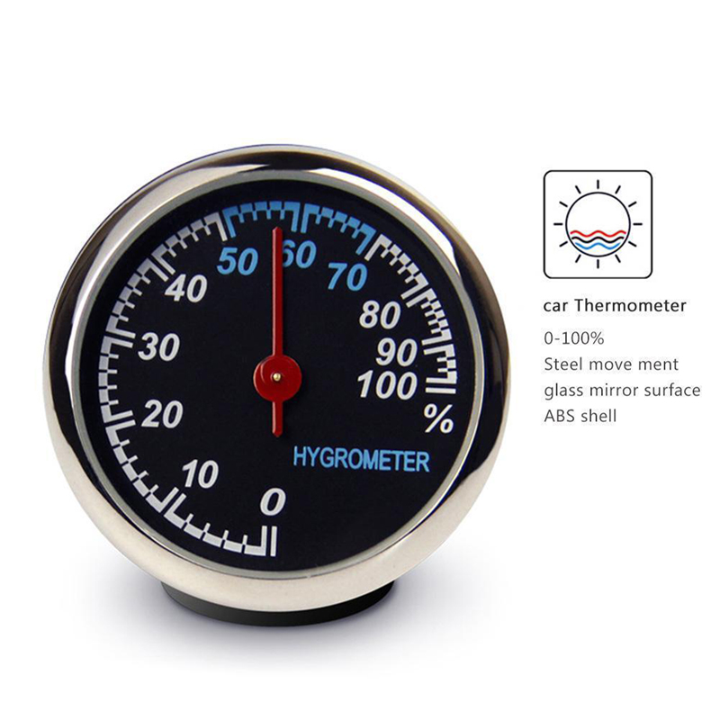 Image 4 - Round Shape Car Automobile Digital Clock Auto Watch/Thermometer/Hygrometer Car Interior Decoration Ornament Car Styling-in Clocks from Automobiles & Motorcycles
