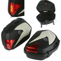 Motorcycle Black Saddlebags Luggage Bags With Light For KTM 125 200 DUKE 2012 2015 2013 2014