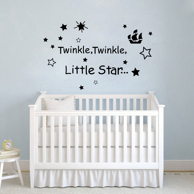 Le Little Star Baby Sleeping Quotes Removable Vinyl Nursery Wall Stickers Free Shipping