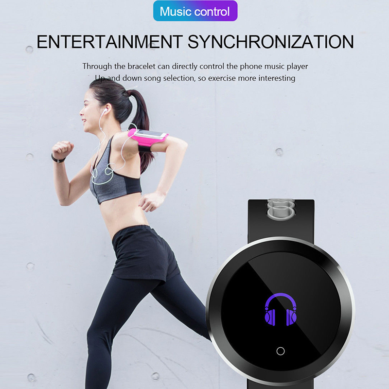 Waterproof Samrt Watch For IOS bluetooth Call Reminder Control phone Music  Pedometer Sport Bracelet Round Smartwatch For Android