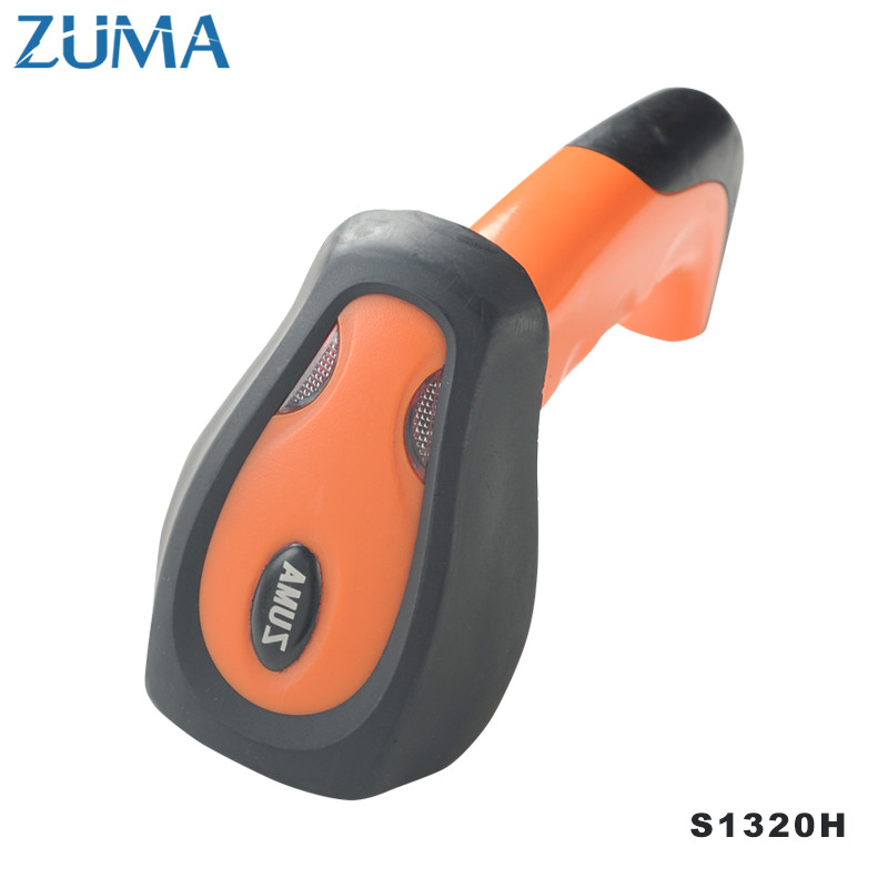 ZUMA 1D Industrial Level Barcode Scanner  wireless Long  Distance  Portable Handheld 32bit Barcode Laser Scanner 1302h