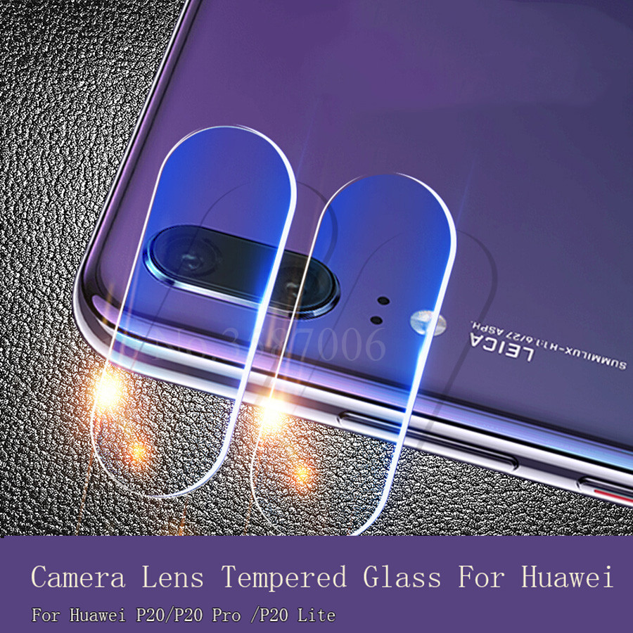 100Pcs For Huawei P20 Back Camera Lens Tempered Glass for Huawei P20 Pro Full Cover Film Tempered Glass For Huawei P20 Lite