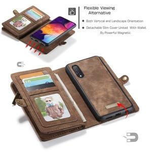 Image 4 - עבור Funda Samsung Galaxy A50 ארנק מקרה להסרה 2 ב 1 אמיתי עור מגנטי Flip כיסוי מקרה עבור סמסונג A50 a40 A30 A20