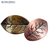2x Leaf Antique Cabinet Drawer Knobs Kitchen Cabinet Handles Furniture Knobs Vintage Cupboard Closet Pulls Bars