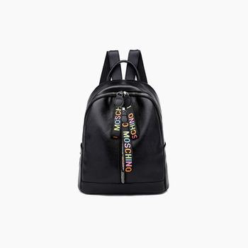 New PU Leather Girls Backpacks Large Capacity with Headphone Hole Solid Color Women Small Backpack Women Cute Backpack Women