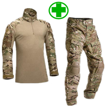 SWAT Tactical Camouflage Military Uniform Clothes Suit Men US Army Multicam Hunting Militar Combat Shirt + Cargo Pants Knee Pads