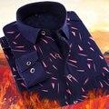 PADRÕES Da Marca Camisa Xadrez masculina Casual Camisa Camisa Denim Roupas de Manga Completo mais Cor de Grau Superior Mencamisa masculina sociais
