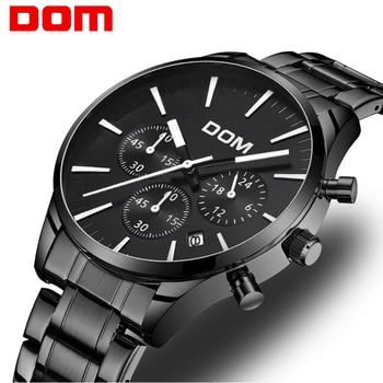 5a861b576ac DOM для мужчин s часы лучший бренд класса люкс Известный Мода повседневное  спортивные часы Военная Униформа кварцевые наручные часы Relogio .