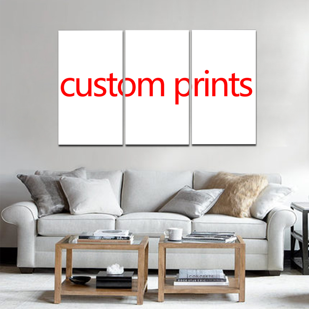 Unframed Art Custom Made Canvas Wall Art Picture 3 Pieces Customized Painting Modern Living Room Decorative Drop Shipping