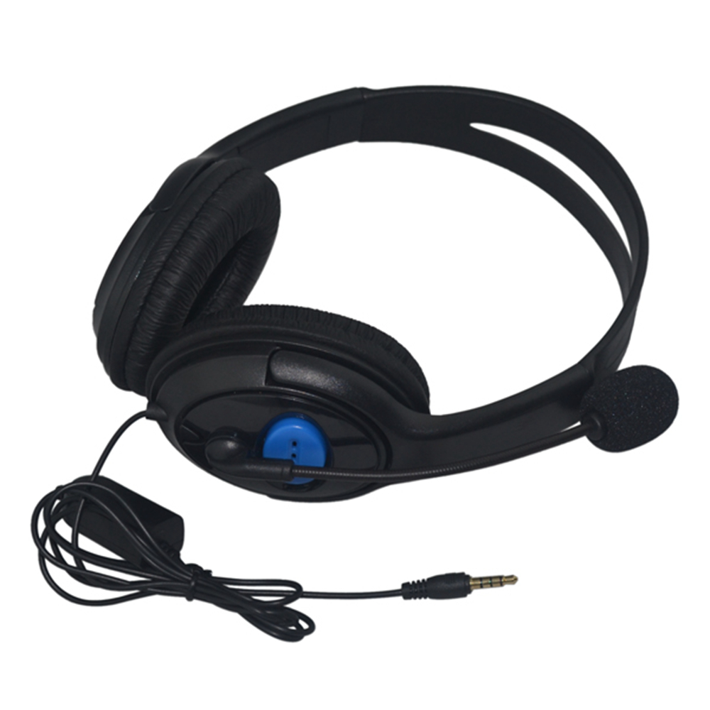 For ps 4 Wired gaming Headset earphones with Microphone Headphones for PS4 games Supper Bass