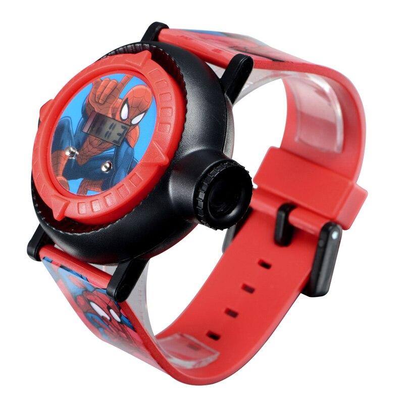 Человек-паук дети часы проекция мультфильм узор цифровой ребенок часы для мальчиков девочек светодиод дисплей часы Relogio MARVEL Hero время
