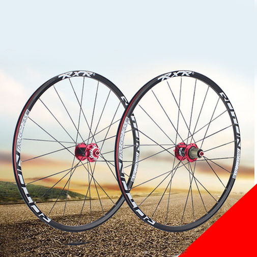 a9 26 inch bicycle Wheel 2 bearing cassette hub 319 aluminum alloy <font><b>rim</b></font> mountain bike spokes wheel image