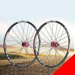 Roue de bicyclette en alliage d'aluminium 319, 26 pouces, 2 roulements, moyeu avec cassette, jante VTT rayons