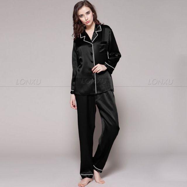 נשים 100% משי פיג מה סט פיג פיג מות סט הלבשת Loungewear XS S M L XL
