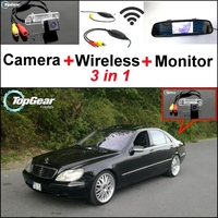 3 in1 Camera + Wireless Receiver + Monitor Parking System For Mercedes Benz S MB W220 S280 320 400 350 430 500 600 55 63 65