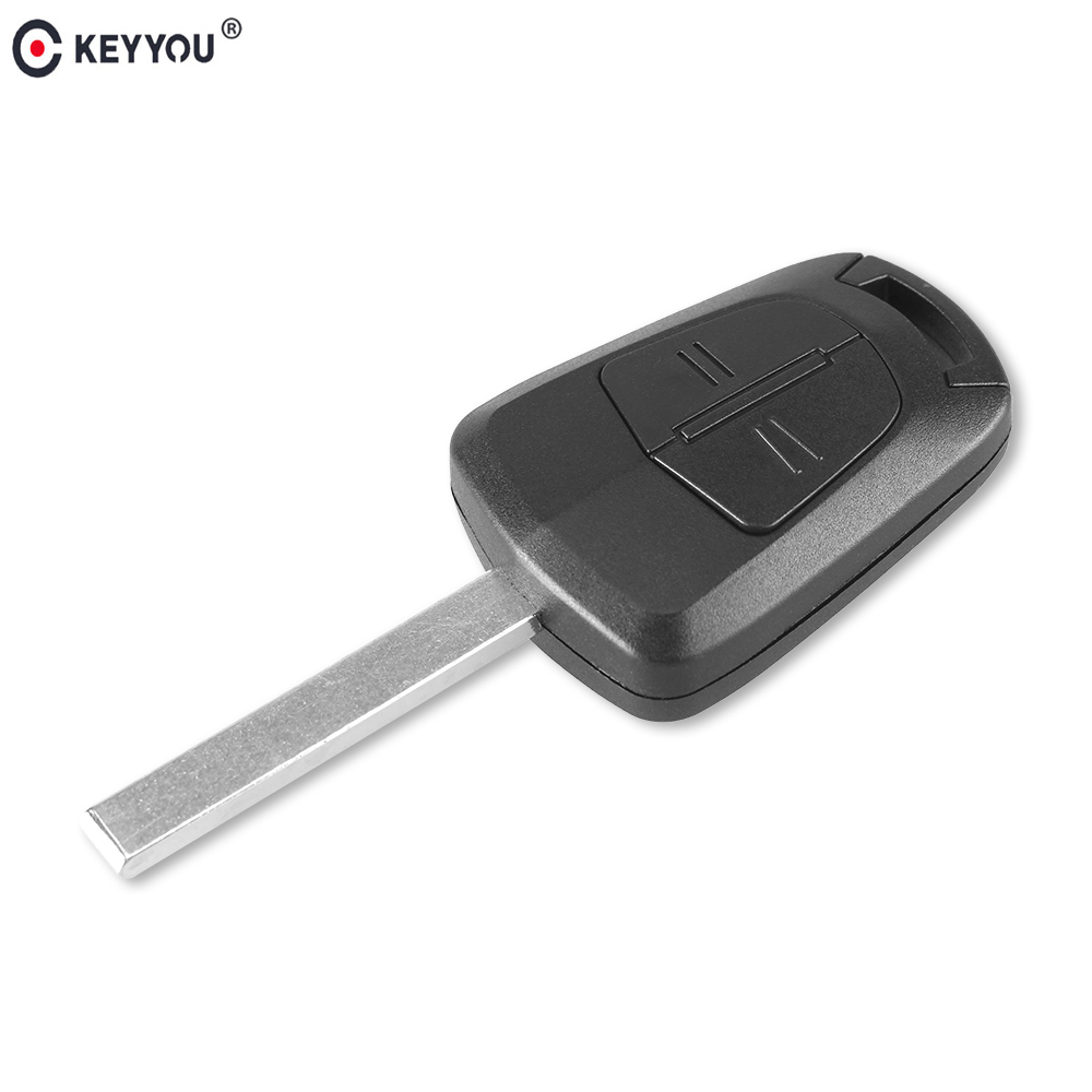 KEYYOU Replacement Remote Car Key Case Shell Fob for Vauxhall Opel Corsa Agila Meriva Uncut Blade 2 Button Blank Key Fob Cover keyyou 3 button car key remote case shell fob for opel vectra astra with key blade