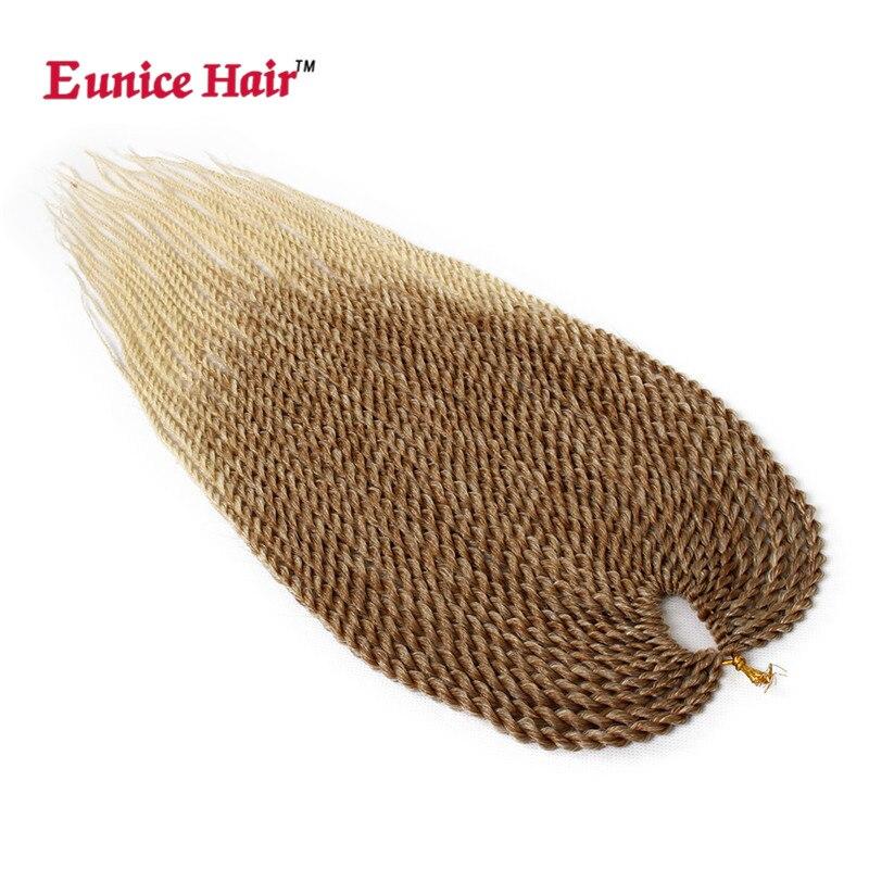 Eunice Crochet Hair Extension 3-5 Packs Ombre Blonde Kanekalon - Syntetiskt hår