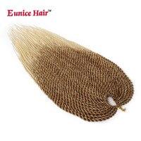 Eunice Crochet Hair Extension 3 5 Packs Ombre Blonde Kanekalon Crochet Braids Senegalese Twist Braiding Hair