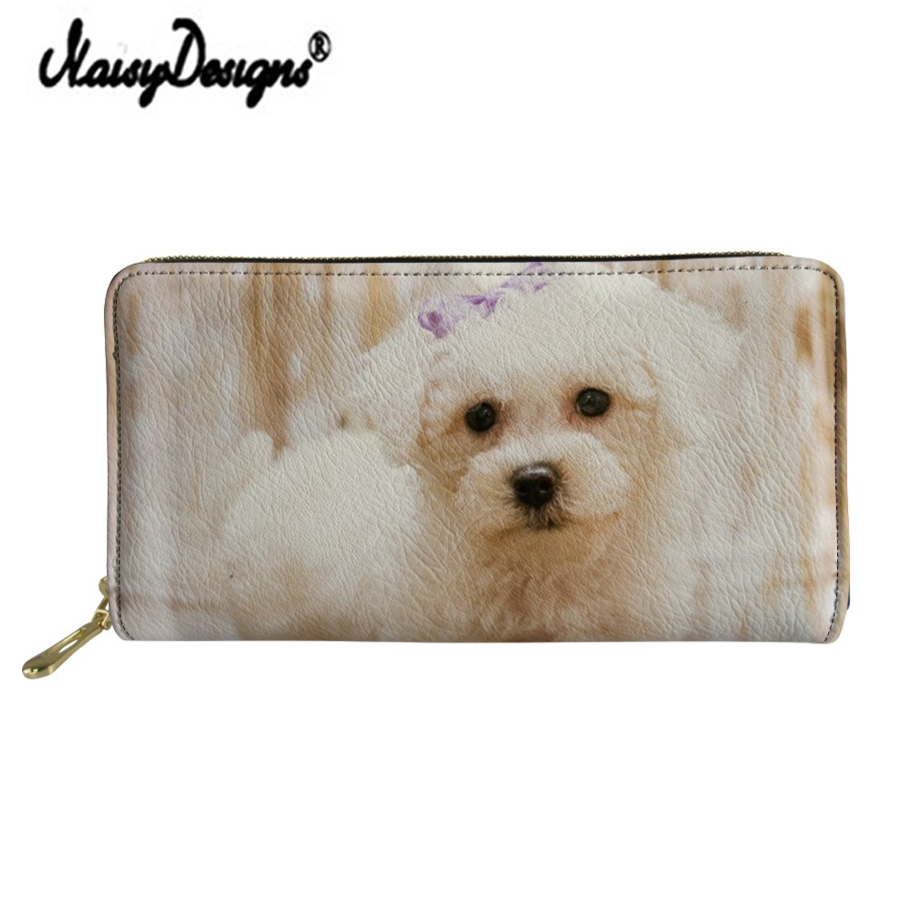 Noisydesigns Bolognese Printed Wallet Women Clutch Leather PU Purse Cartera Mujer Coin Purse Ladies Organizer Card Holders Phone in Wallets from Luggage Bags