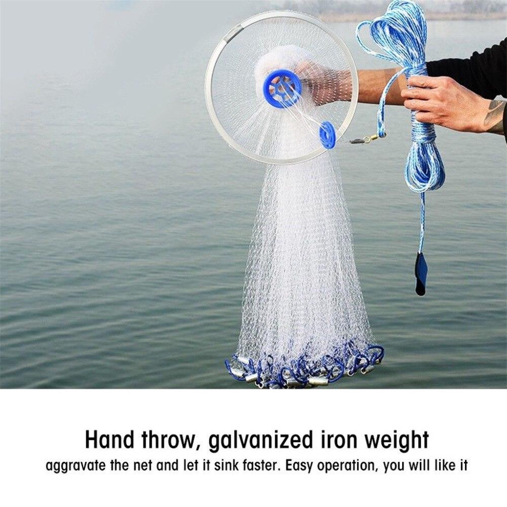 Matériel de pêche en plein air filet de pêche magique anneau en aluminium Finefish réseau de pêche américain appâts vers accessoires de pêche