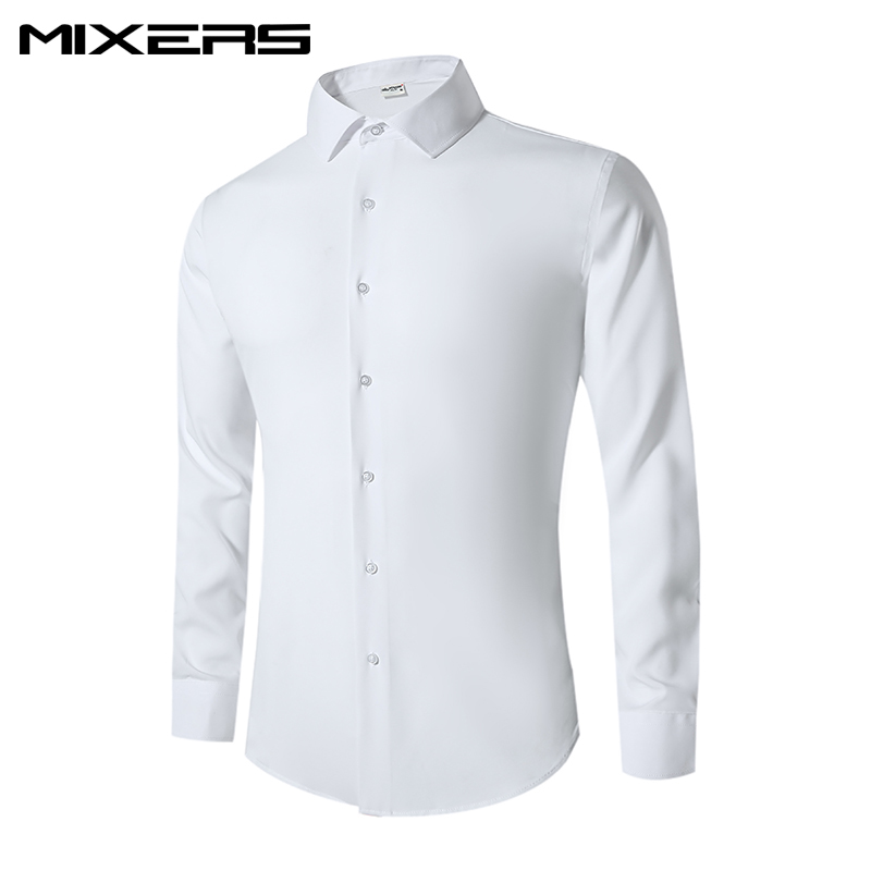 2018 Brand Mens Cotton Formal Dress Shirts Men Breathable Tuxedo Shirt Long Sleeve Slim Fit Casual Shirt Men Clothes Camisas