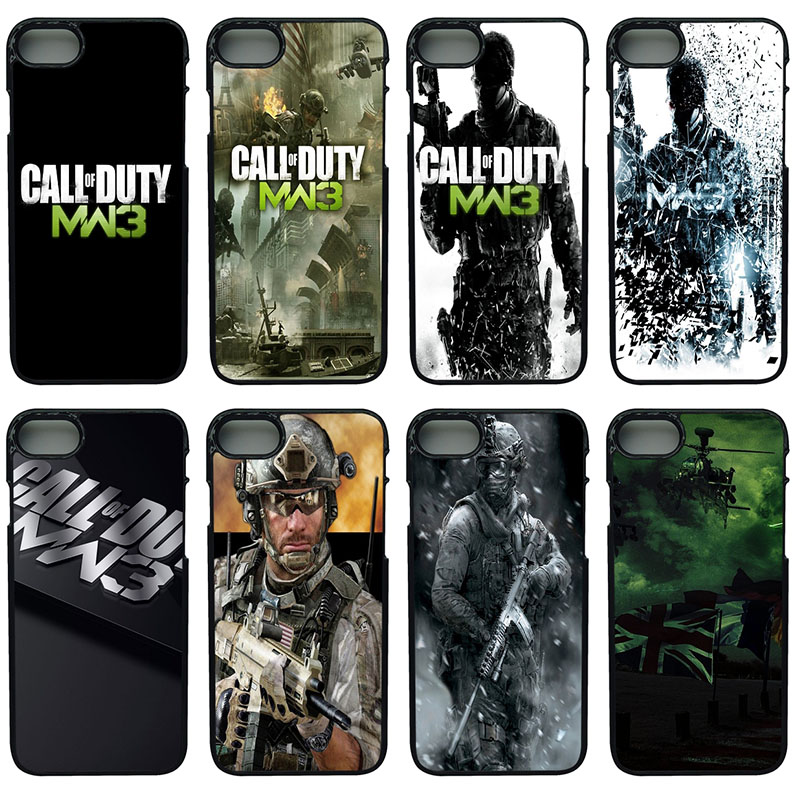 Call Of Duty Mw3 Cell Phone Cases Hard Plastic Phone Cover Protect for iphone 8 7 6 6S PLUS X 5S 5C 5 SE iPod Touch 4 5 6 Case