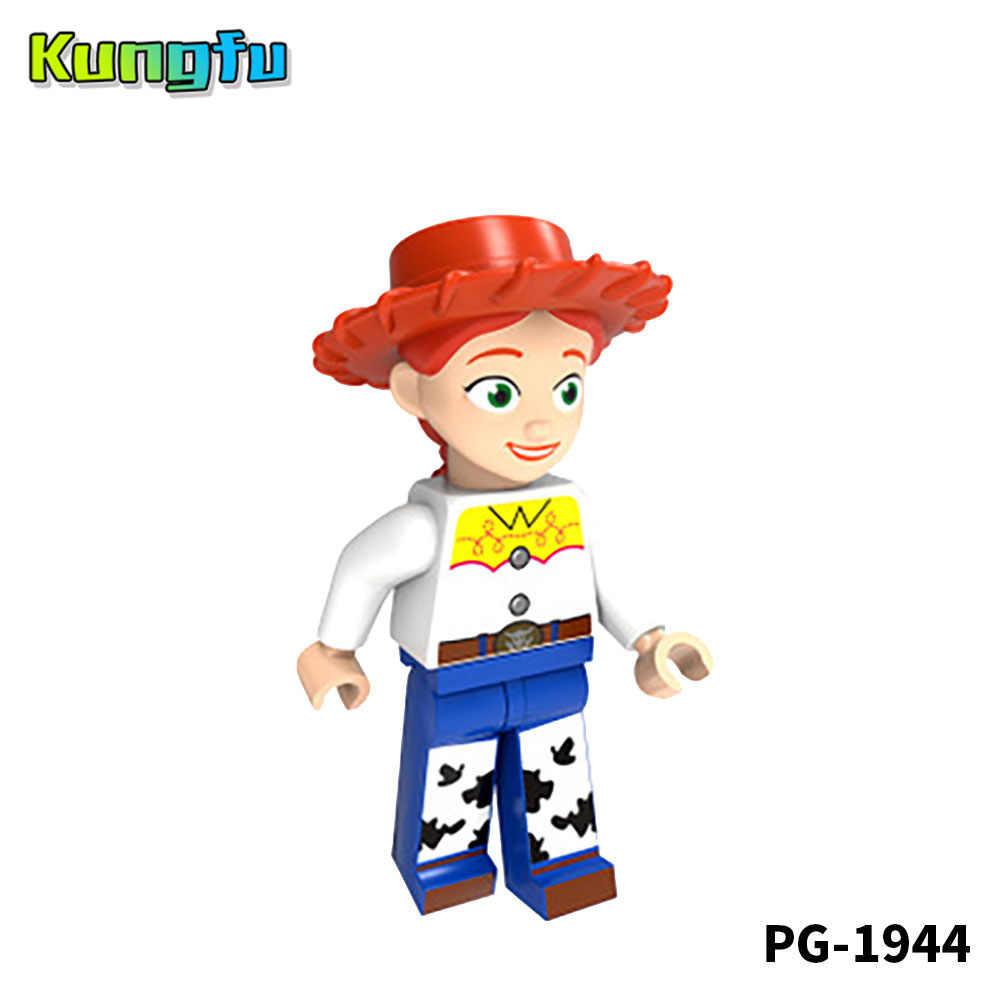 Toy Story 4 Forky crianças brinquedo Blocos de Construção Figuras Woody Jessie Jessie Buzz Lightyear Zurg 4 Marvel Avengers brinquedos Amigo presente