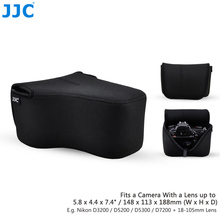 JJC Fotocamera Digitale Colourful Sacchetto di 148 millimetri (W) x 113 millimetri (H) x 188 millimetri (D) di Grandi Dimensioni Del Sacchetto DSLR Neoprene Grande Caso Per Canon Nikon