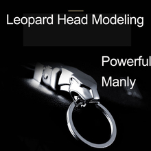high quality znic alloy manly powerful leopard head key buckle wonderful