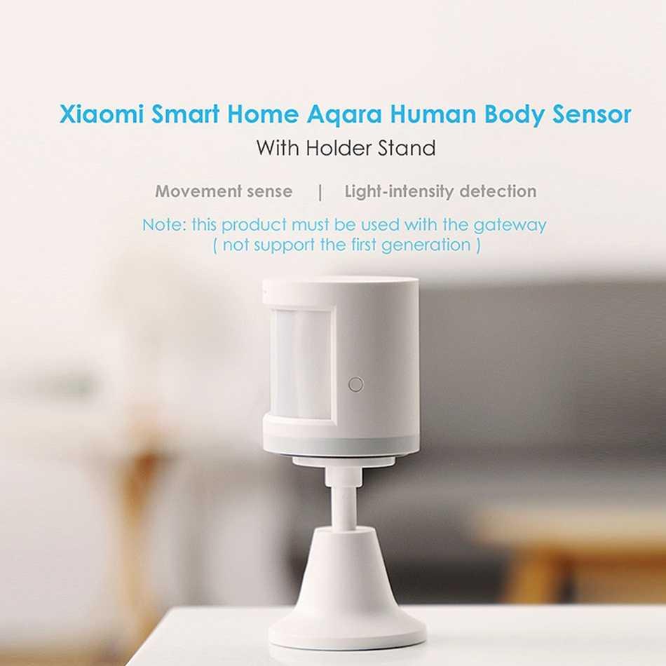 Aqara İnsan vücudu sensörü ZigBee sürümü kablosuz WiFi tutucu ile akıllı hareket sensörü için Apple homekit mijia APP uzaktan kumanda