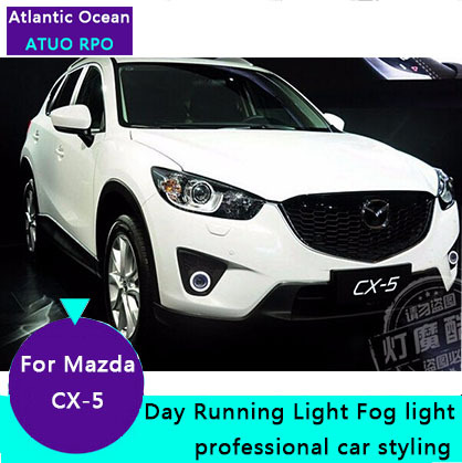 AUTO PRO for Mazda CX 5 LED fog lamps Car Styling For Mazda CX 5 LED DRL parking driving led fog lights cover car Accessories