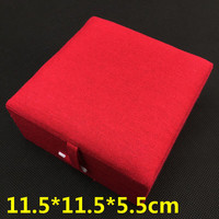 Pure Large Mens Bracelet Gift Box High Quality Jewelry Display Case Cotton Filled Packaging Cotton Linen