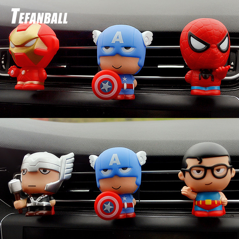 Automotive Freshener Car Perfume Clip For The Avengers Marvel Superhero Figures Auto Vents Scent Diffuser In The Car Accessories-in Air Freshener from Automobiles & Motorcycles