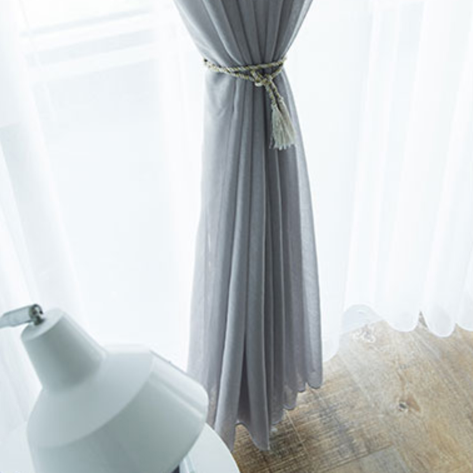 Image 4 - Modern Tulle Curtains For Living Room Kitchen White Curtains For The Bedroom Sheer Curtains Window Kid Romantic Voile Blue Black-in Curtains from Home & Garden