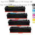 Hot 4pk Compatible for HP 201X - CF400X, CF401X, CF402X, CF403X High Yield Toner Cartridge for HP Color LaserJet Pro ,  printers