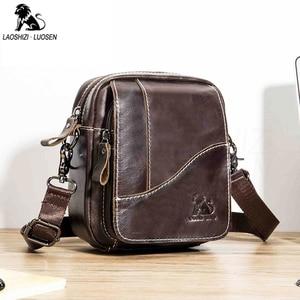 Image 2 - 2019 الرجال حقائب اليد العصرية جلد طبيعي الذكور حقيبة ساع رجل Crossbody حقيبة كتف حقائب السفر للرجال هدايا للأب